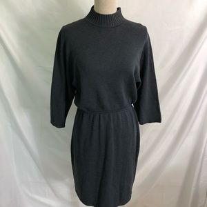 St John Blue Santana Knit Sweater Dress 10